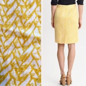 ♦️SOLD‼️BANANA REPUBLIC Pencil Skirt Yellow